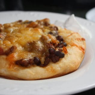 Beef & Black Bean Tostizzas
