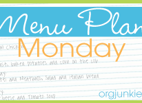 Menu Plan Monday 9/12