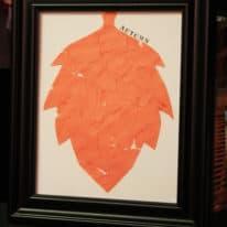 Fall Leaf Collage Kid Art