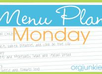 Menu Plan Monday 10/17