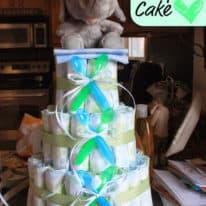 Polka Dot Baby Shower: Diaper Cake