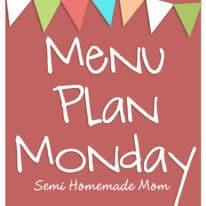 Menu Plan Monday 4/9