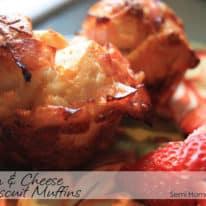 Ham & Cheese Biscuit Muffins