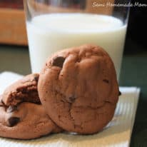 Chocolate Mint Chip Pudding Cookies