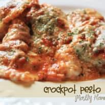 Crockpot Pesto Ravioli