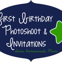 First Birthday Photoshoot & Invitations