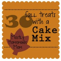 30 Fall Treats with a Cake Mix!