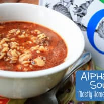 Soup Week: Alphabet Soup