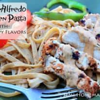 Cajun Chicken Alfredo Pasta with No Wimpy Flavors