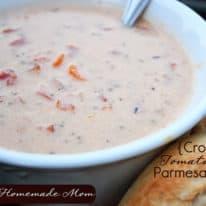 Soup Week: Crockpot Tomato Basil Parmesan Soup