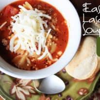 Soup Week: Easy Lasagna Soup