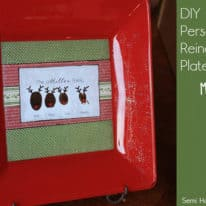 DIY Personalized Reindeer Plate with Mod Podge