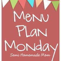 Menu Plan Monday 12/3