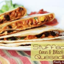 Stuffed Corn & Black Bean Quesadillas