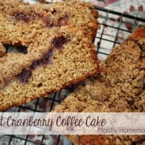 Yogurt Cranberry Coffee Cake