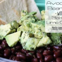 Avocado Bean Dip with Baked Lime Chips