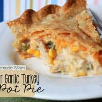 Cheddar Garlic Turkey Pot Pie