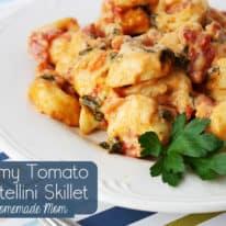 Creamy Tomato Tortellini Skillet