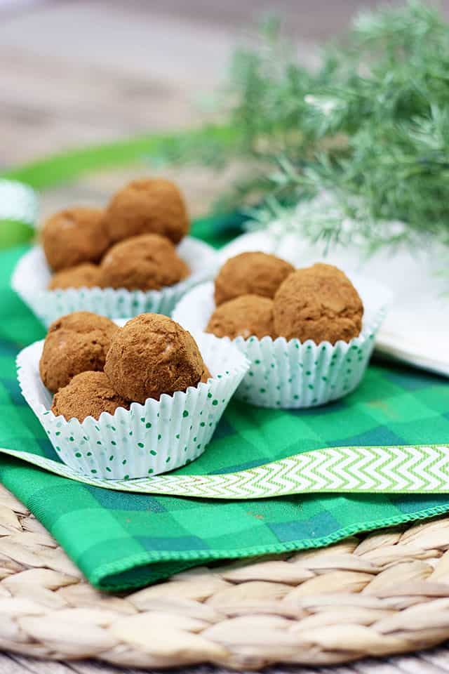 Irish Potatoes displayed in paper cupcake liners ready for a party