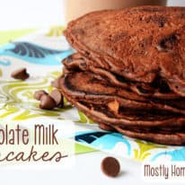 Chocolate Milk Pancakes