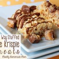 Milky Way Stuffed Rice Krispie Treats