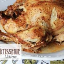 Crockpot BBQ Rotisserie Chicken
