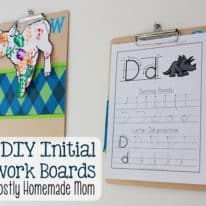 DIY Initial Artwork Boards