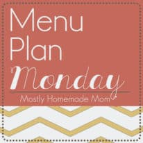 Menu Plan Monday 4/22