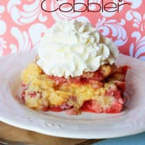Sweet Strawberry Cobbler