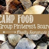 Camp Food Group Pinterest Board