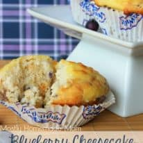 Blueberry Cheesecake Muffins with Martha White!