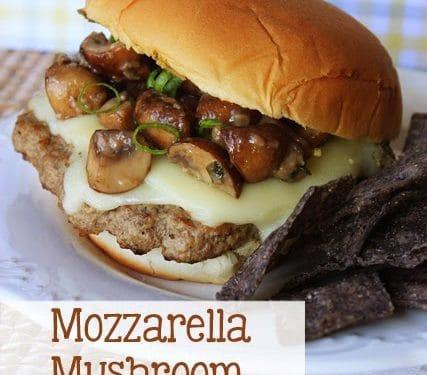 Mozzarella Mushroom Burgers Mostly Homemade Mom