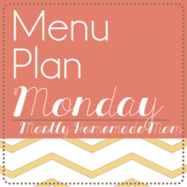 Menu Plan Monday 10/20