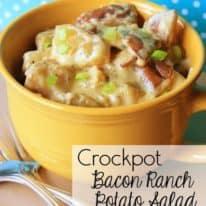 Crockpot Bacon Ranch Potato Salad