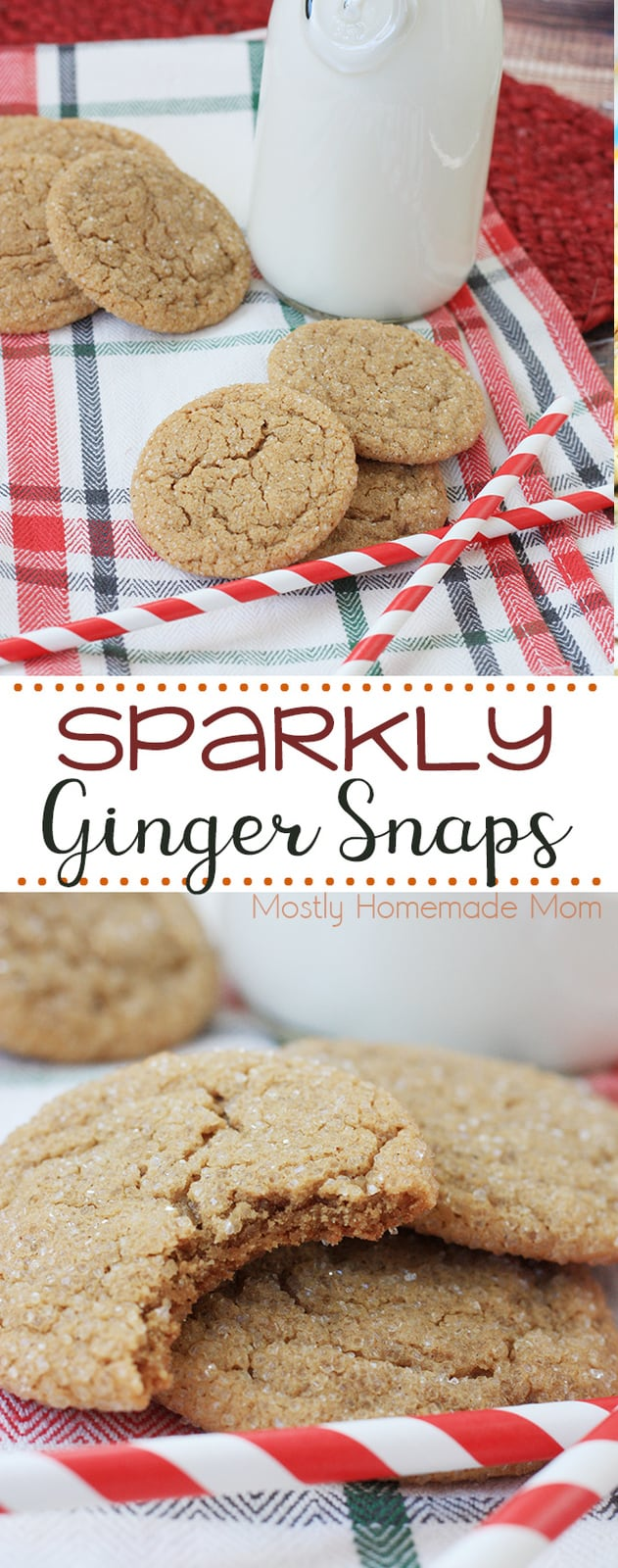 This Ginger Snaps Recipe is a family favorite during Christmas! With real molasses, ground ginger, cloves, and cinnamon - these will be the perfect addition to your Christmas cookie tray this year! #cookies #Christmas #recipe #dessert