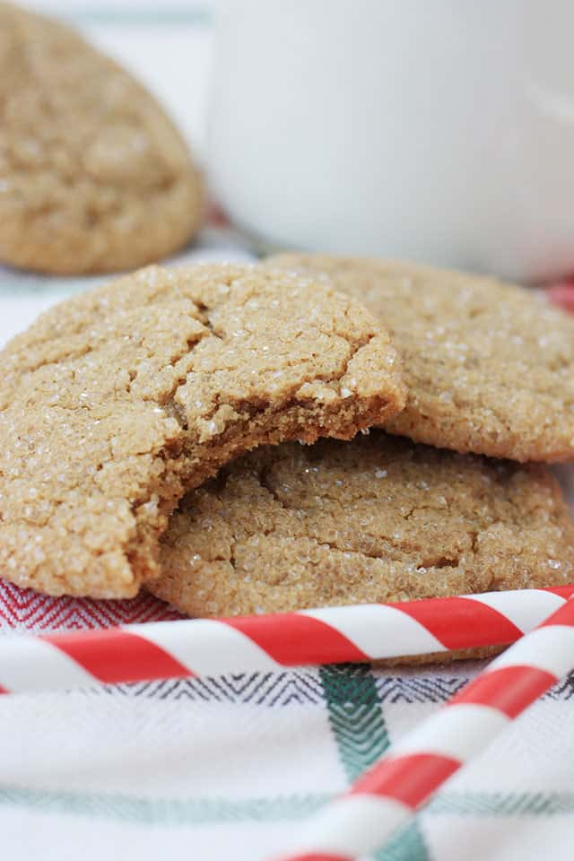 A ginger snaps recipe cookie with a bite taken out of it