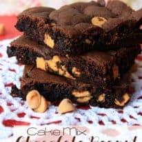 Cake Mix Chocolate Peanut Butter Bars