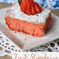 Fresh Strawberry Jello Cake