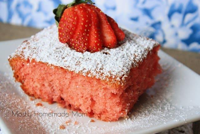 Chocolate Strawberry Jello Cake Recipe: Fresh Strawberry Jello Cake