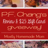 P.F. Chang's Review & Gift Card Giveaway!