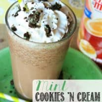 Mint Cookies 'N Cream Frappe – and a Coffee-mate Giveaway!