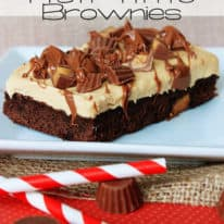 Peanut Butter Mousse Half-Time Brownies – Reese's Baking Bracket Challenge
