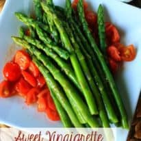 Sweet Vinaigrette Asparagus & Tomatoes – with Pompeian Varietals!