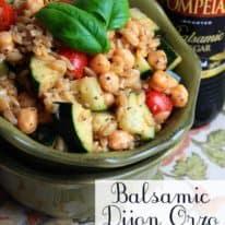 Balsamic Dijon Orzo Salad