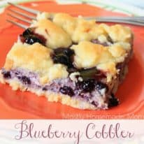 Blueberry Cobbler Sugar Cookie Squares