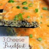 3 Cheese Breakfast Bake
