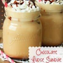 Chocolate Fudge Sundae Iced Coffee