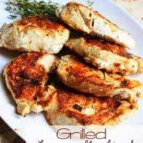 Grilled Lemon, Garlic, & Oregano Chicken
