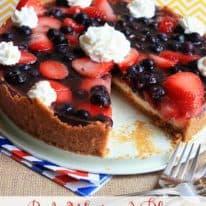 Red, White, & Blue Cheesecake Torte