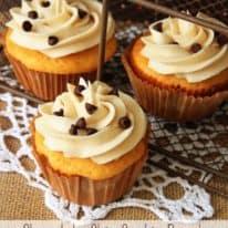 Chocolate Chip Cookie Dough Stuffed Cupcakes